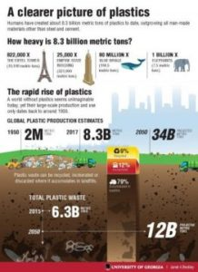 Infographic on plastic pollution. Credit: Janet A Beckley